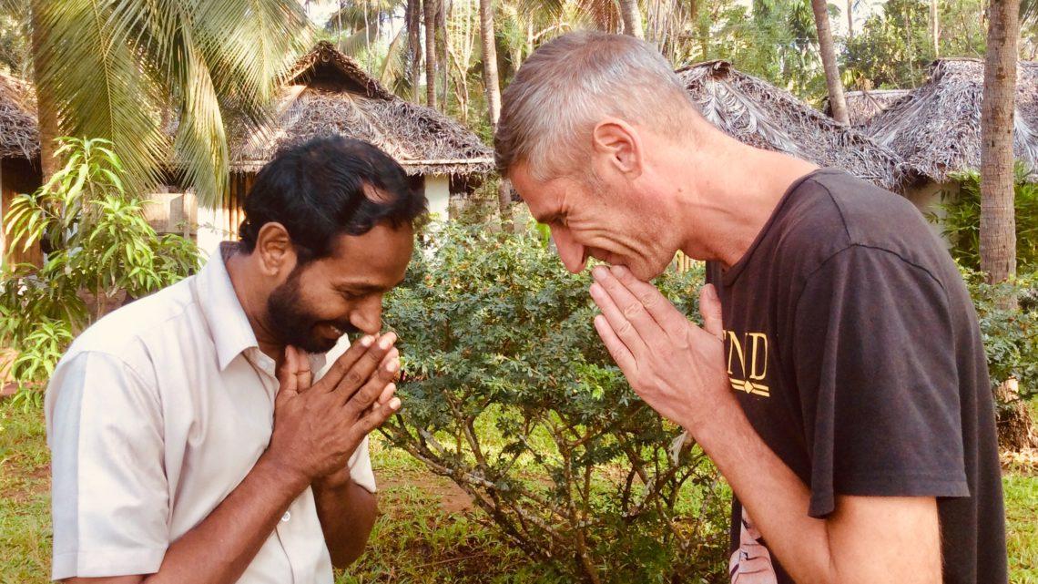 Tiefe Berührung bei der Ayurveda Kur in Indien