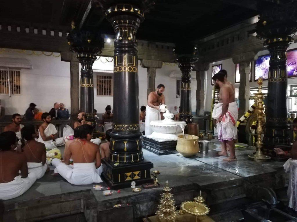 Puja im Ramana Maharshi Ashram